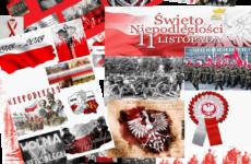 kolaż zdjęć o tematyce święta niepodległości